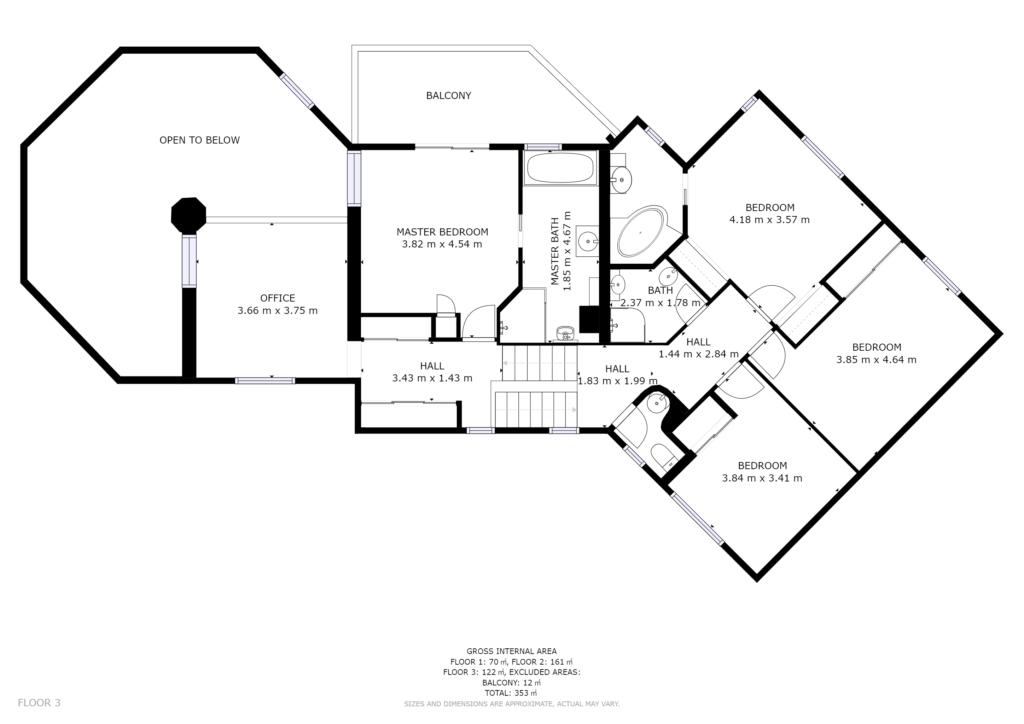 Visite Privée Plan 2D 1er étage