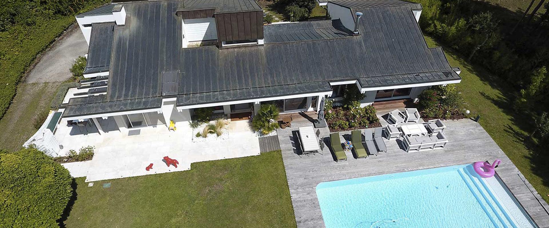 Visite Privée Slide page d'accueil Vidéo aérienne drone
