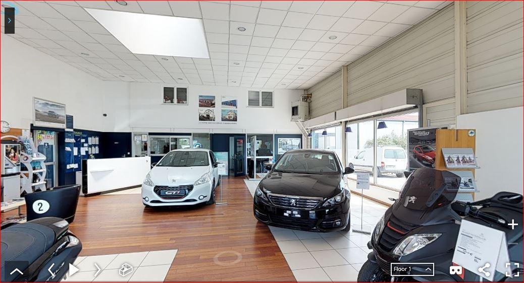 Visite privée visite 3D concession automobile Peugeot